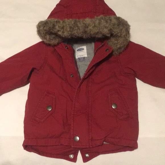Clothing, Shoes & Accessories Pre-owned Girls Next Red Hooded Coat Size 18-24 Months